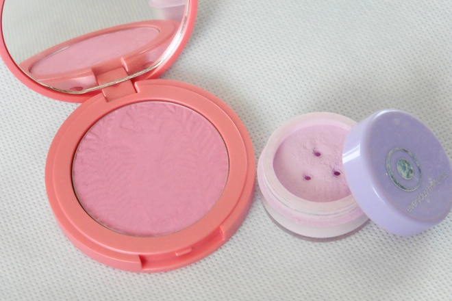 01 Tarte Dollface and Everday Minerals Anytime Blush