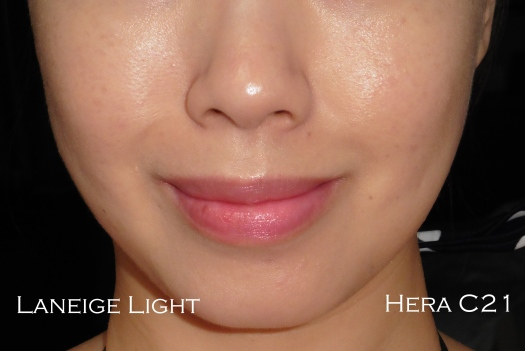 05 Hera UV Mist C21 Laneige BB Cushion Light Review