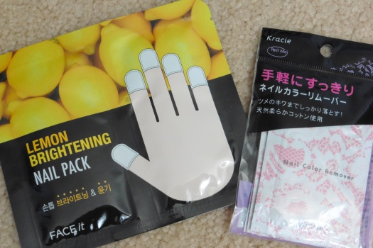 05 The Face Shop FaceIt Lemon Brightening Nail Pack Kracie Nail Color Remover Sheets