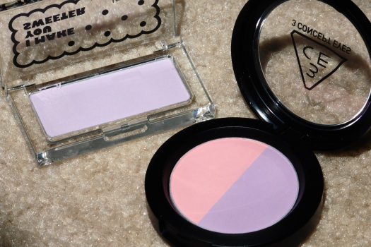 08 The Face Shop Lovely Me-Ex You & Face Blusher 03 Purple Fantasy 3CE Duo Color Face Blush Creme De Violette