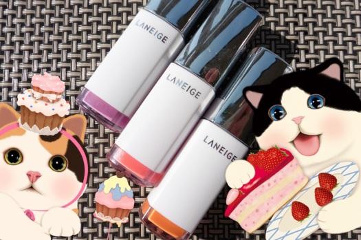 07  Laneige Water Drop Tint Orchid Violet Neon Pink Peach Coral Comparison