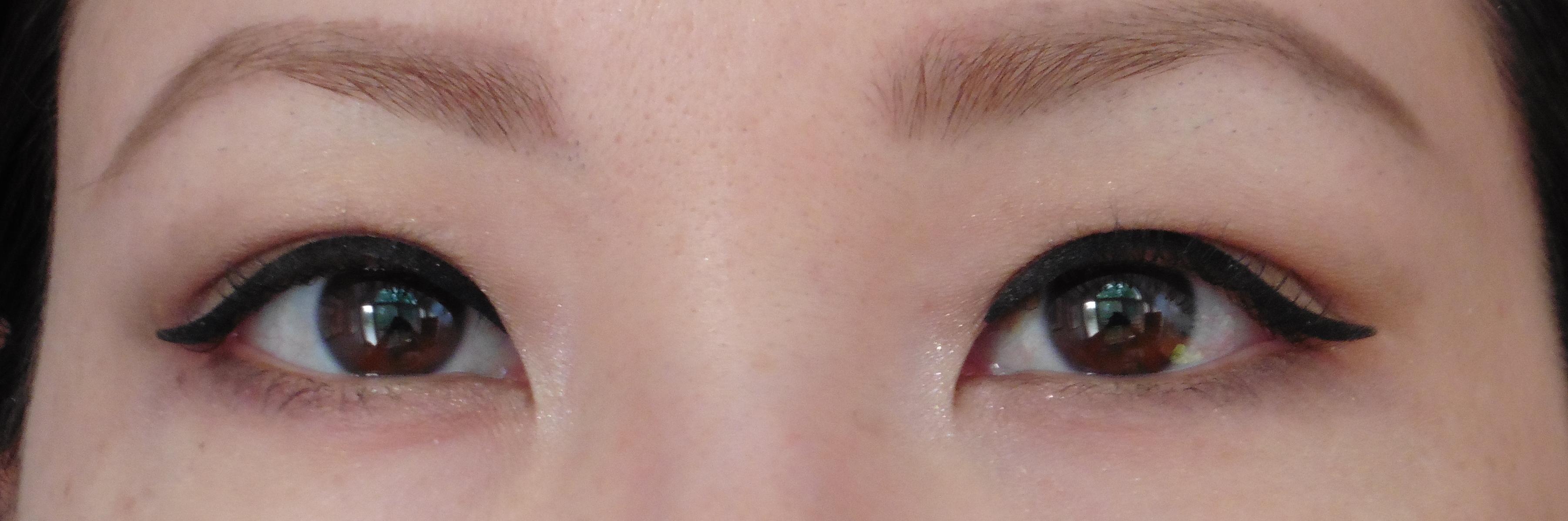 Eyelid Tape Wearing Makeup