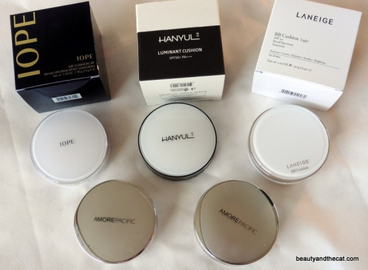02 AmorePacific IOPE Hanyul Laneige HERA Cushions Review
