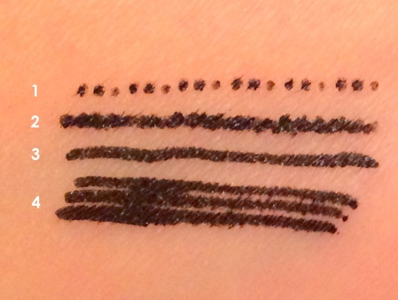 03 The Face Shop Face It Extreme Dot Pen Eyeliner EX in Black Review Swatches