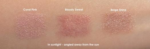 04 Lovedrops Urumi Liner 02 Coral Pink CLIO Gelpresso Waterproof Pencil Gel Liner 13 Bloody Sweet 1 Beige Shine Swatches