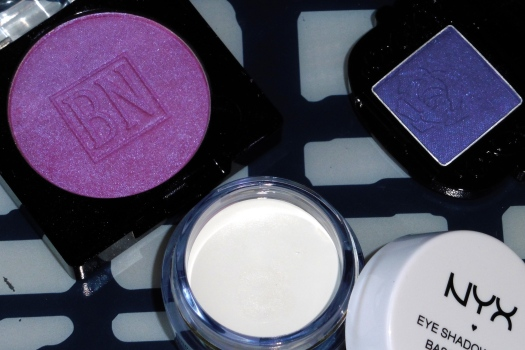 05 Ben Nye LU-17 Cosmic Violet Anna Sui Eyeshadow 201 NYX White Eye Shadow Base Review - With Flash