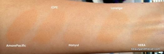 08 AmorePacific IOPE Hanyul Laneige HERA Cushions Review