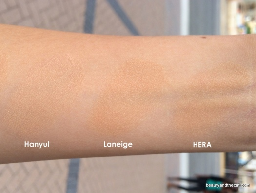 10 Hanyul 2 Beige Laneige Light HERA C21 Comparison Review