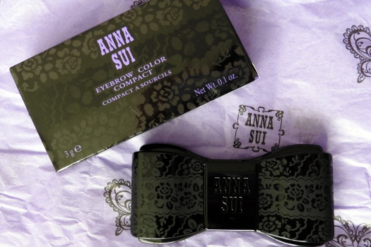 01 Anna Sui Eyebrow Color Compact 03 Ash Brown Review
