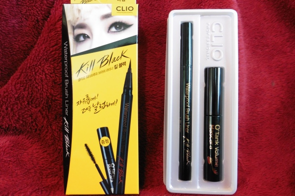 01 Clio Waterproof Brush Liner Kill Black O'Tank Volume Mascara Review