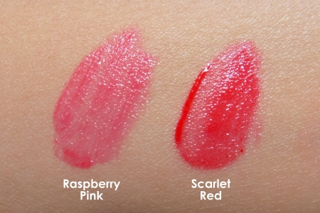 03 Laneige Water Drop Tint Raspberry Pink Scarlet Red Swatches Comparison