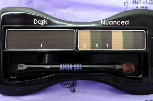 04 Anna Sui Eyebrow Color Compact 03 Ash Brown Review