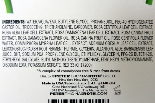 04 Peter Thomas Roth Rose Stem Cell Bio-Repair Gel Mask Ingredients
