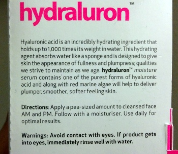 02 Hydraluron Review Directions