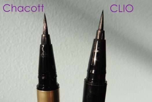 03 Chacott Quick Eyeliner Compare CLIO Waterproof Brush Liner Kill Black Review