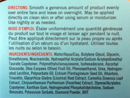 03 First Aid Beauty Facial Radiance Overnight Mask Ingredients Directions