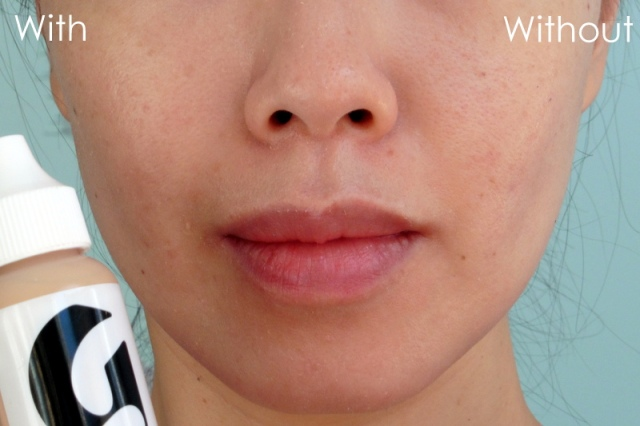04 Glossier Perfecting Skin Tint Light Before After