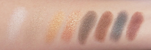 05 NYX Suede Collection Palette Swatches-Direct Sunlight