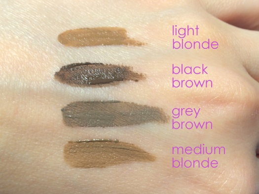 05 Chosungah 22 Dong Gong Minn Brow Maker Swatches-Wet