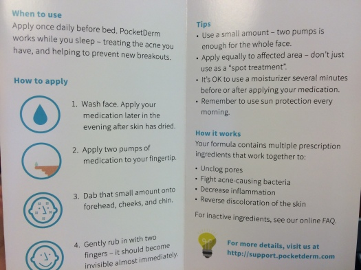 03 PocketDerm Acne Instructions