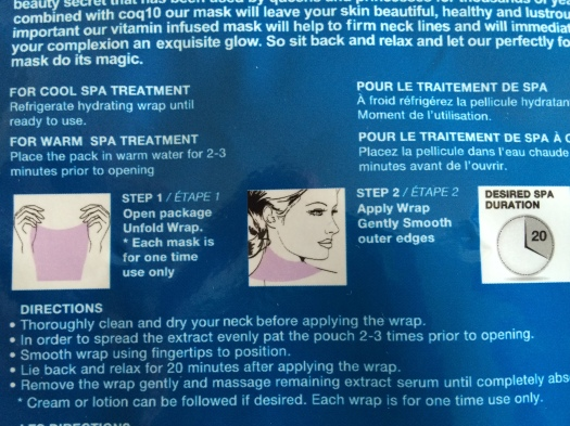 04 Forever Luminous Exhilarating Neck Mask Instructions