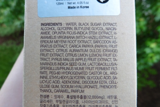Original Ingredients List
