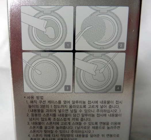 02 Missha Magic Cushion Directions