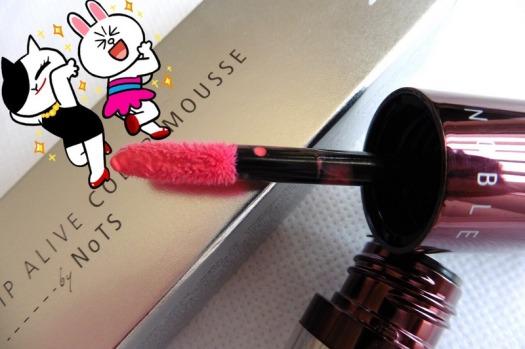02 NoTS Lip Alive Color Mousse 03 Sweet Raspberry Review