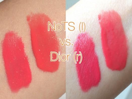 09 NoTS Lip Alive Color Mousse 03 Sweet Raspberry Dupe Dior Fluid Stick Rieuse