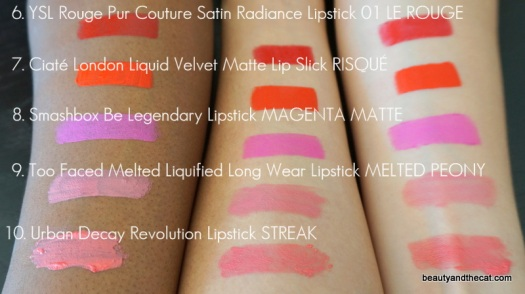 10 Sephora Favorites Give Me More Lip Swatches 2015 06-10