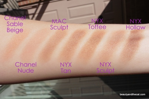 15 Comparison Swatches NYX Chanel MAC