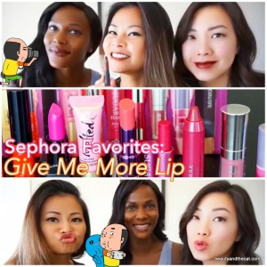 2015-10-27 Sephora Favorites Give Me More Lip Swatches Review
