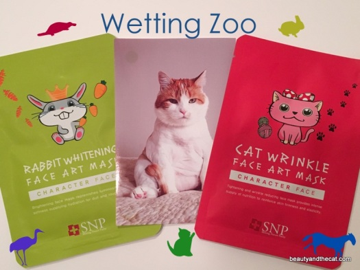 SNP Rabbit Whitening Cat Wrinkle Face Art Mask Review 01