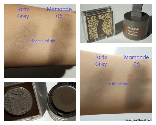07 Tarte Grey Compare Mamonde Pang Pang Hair Shadow 06 Swatch