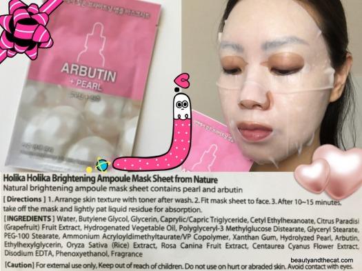 10 Holika Holika Brightening Ampoule Pearl Arbutin Sheet Mask