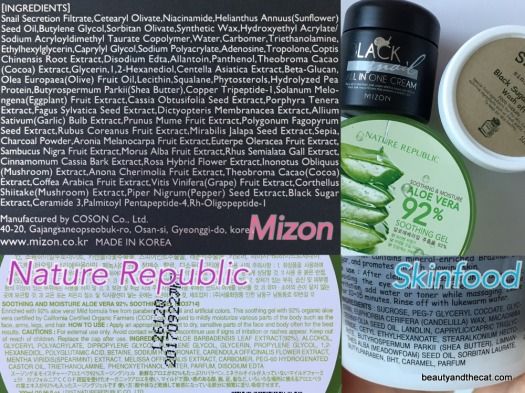 16 Nature Republic Skinfood Mizon Ingredients
