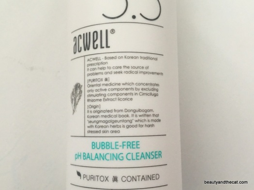 03 Acwell Bubble Free Cleanser Review