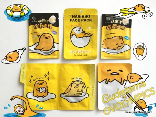 01 Gudetama Sheet Mask Review Comparison
