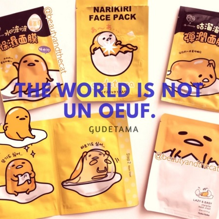 01 Gudetama Sheet Mask Review