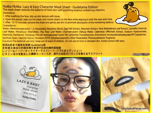 03 Holika Holika Gudetama Lazy Easy Mask Sheet Ingredients