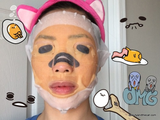 12 Gudetama Narikiri Face Pack Review