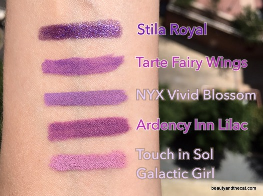 03 Purple Eyeliner Swatches