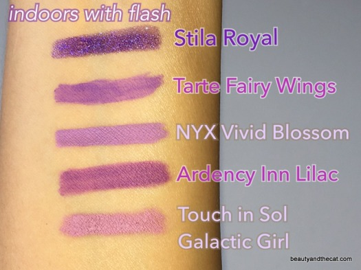 04 Purple Eyeliner Swatches