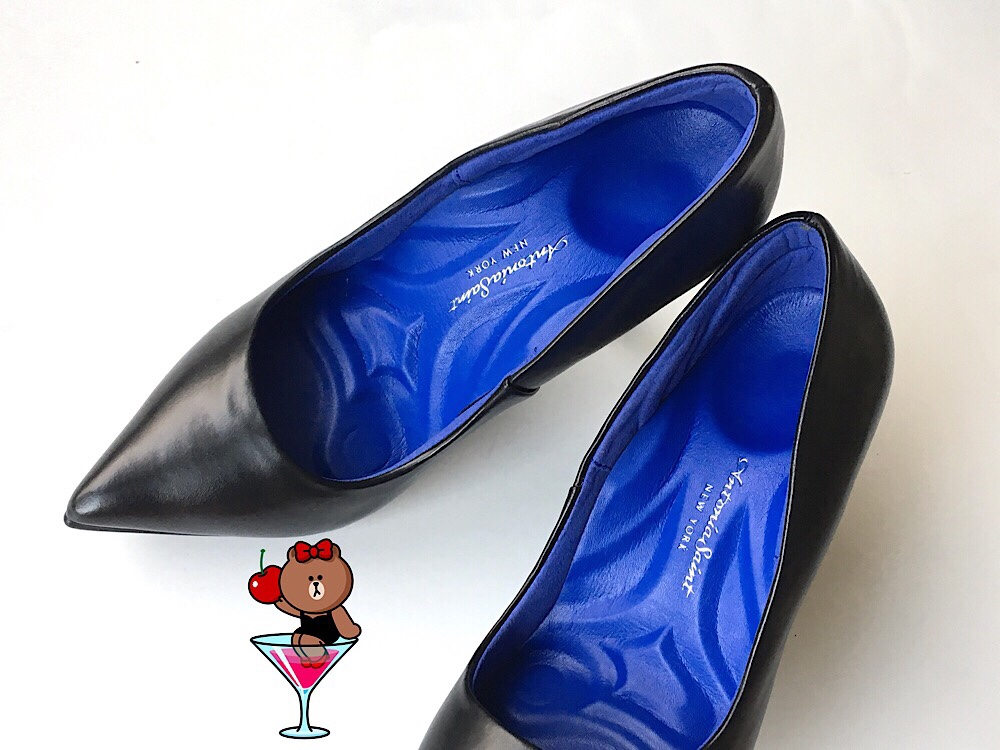 26d88e072d4 The pleather isn't fake-shiny or stiff and the foam interior is CRAZY  cushy! Because of the padding, they look wider and bigger than ordinary  heels.
